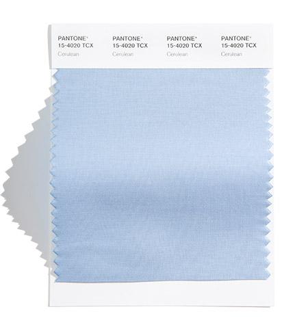 PANTONE 15-4020 Cerulean 淺灰藍:一個寧靜、清澈日子裡天空的顏色。