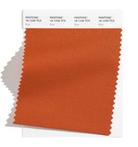 PANTONE 18-1248 Rust 銹褐色:靈感來自土地的褐色,象徵著秋葉,非典型的春季色調。