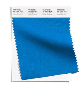 PANTONE 18-4250 Indigo Bunting 靛藍彩雀:一個興高采烈的晶亮藍色,是藍色雄性鳴鳥的象徵。